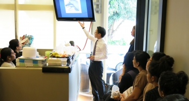 Dr Kenny Pang (ENT and Sleep Specialist) giving a talk  to the Canaan Team.